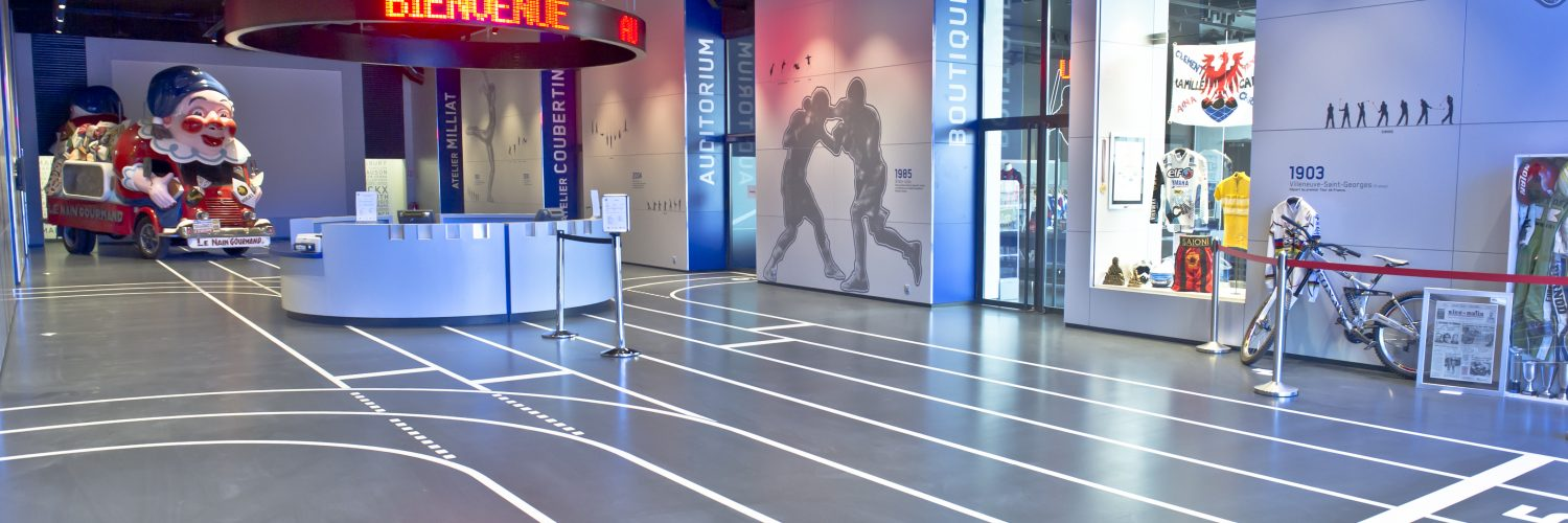 Hall du Musée Nationam du Sport